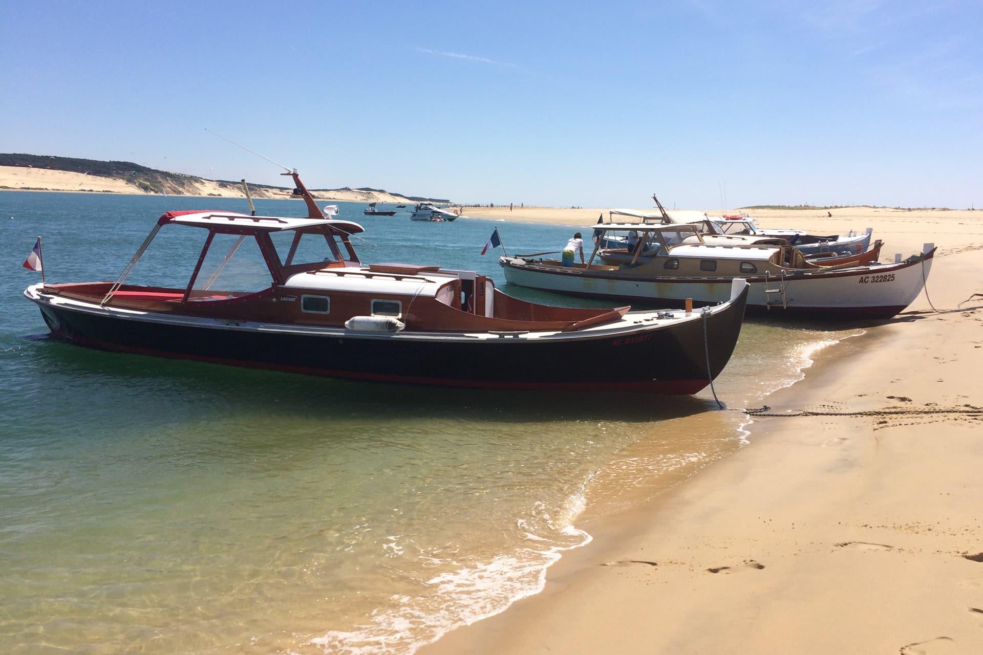 Balade en bateau lors d'un séminaire professionnel sur le bassin d'Arcachon